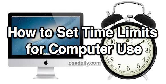 Set time limits for computer use in Mac OS X