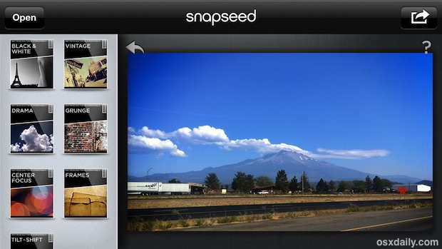 Snapseed interface