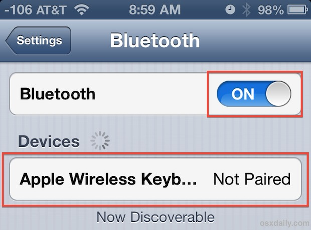 Sync a bluetooth keyboard to an iPhone