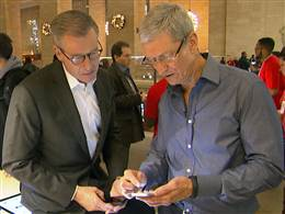 Tim Cook talks with Brian Williams