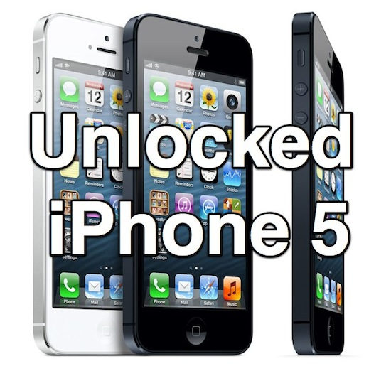 Unlocked iPhone 5 are now for sale from Apple
