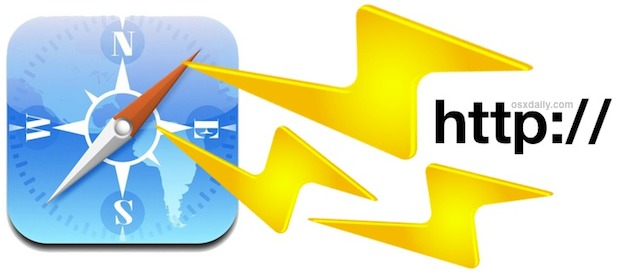 Visit and get to websites faster in iOS