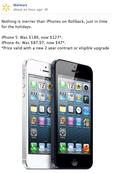 Walmart iPhone 5 sale