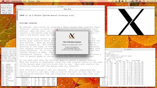 X11 in Mac OS X with XQuartz