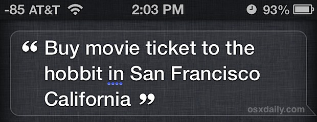 Buy a movie ticket with Siri