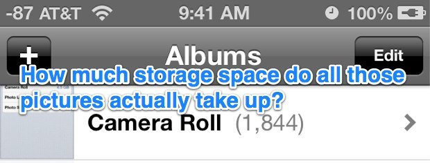 Check storage capacity used by Photos in iOS