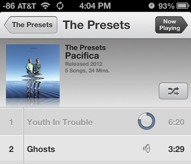 Fixing gray songs in iOS Music app