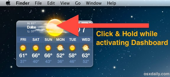 Get a widget on the Mac desktop