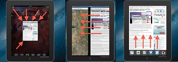 iPad Multitask Gestures