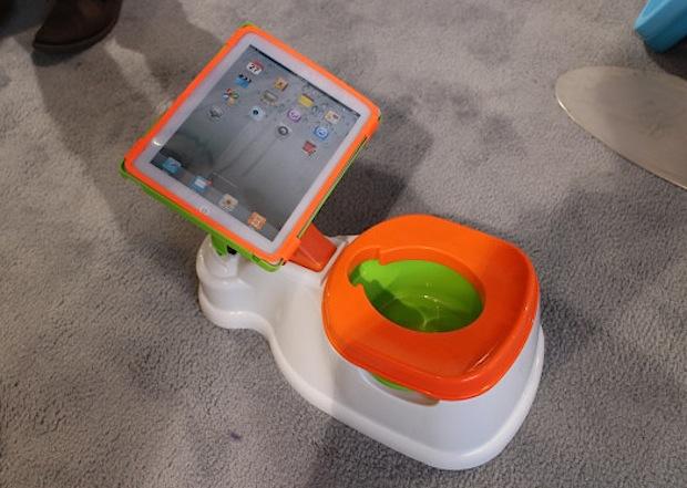 iPad toilet