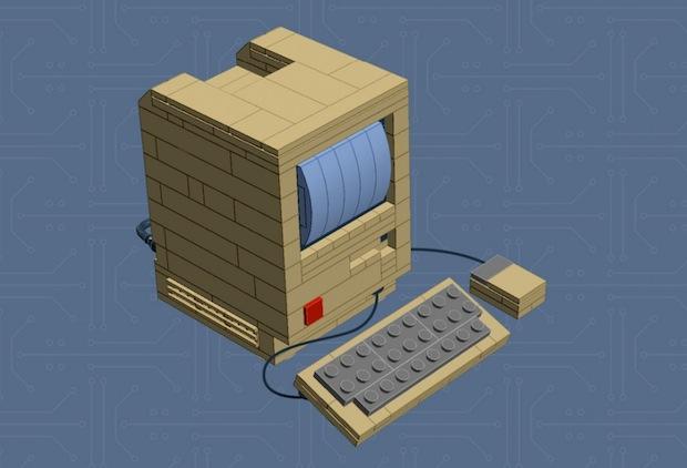 LEGO Mac 128k instructional build guide