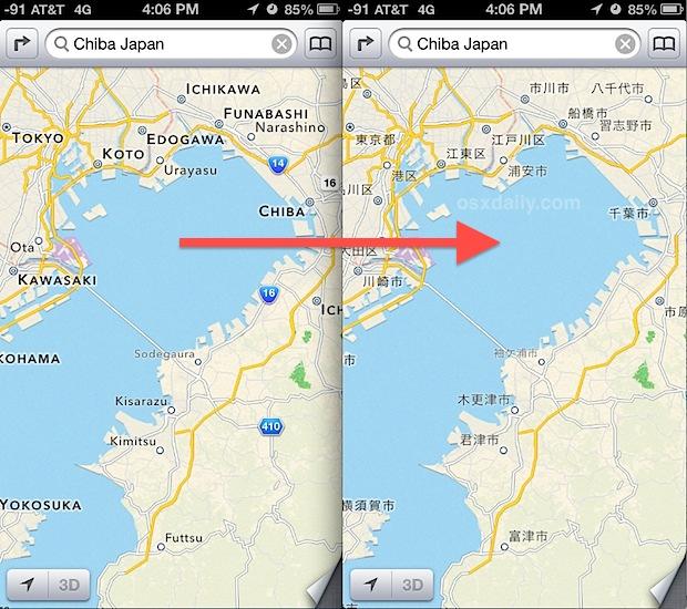 Change Maps language settings