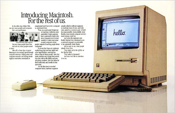 Original Macintosh print ad