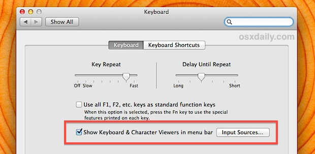 Show the Emoji Character Viewer menu bar item in Mac OS X