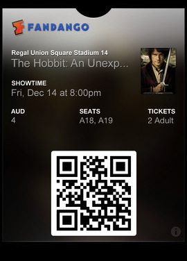 Movie ticket iOS