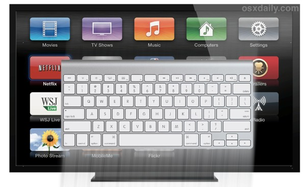 Use a Wireless keyboard with Apple TV