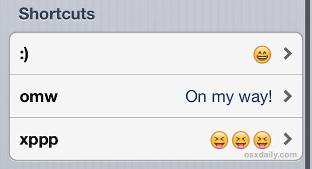 Fast Emoji character shortcuts