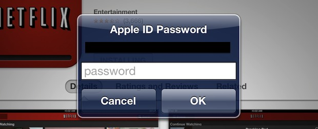Enter the password, yet again