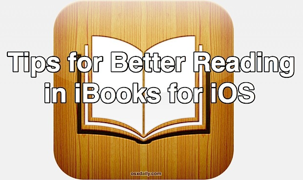 iBooks reading tips