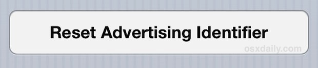 Reset the Advertising Identifier in iOS