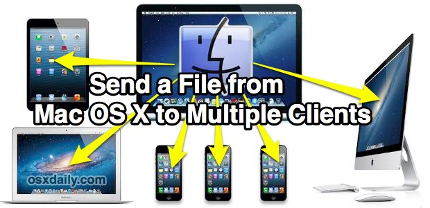 Send a file from a Mac to multiple Macs and iOS Clients