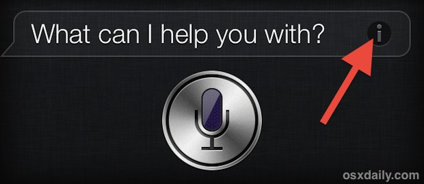 Get a list of Siri commands