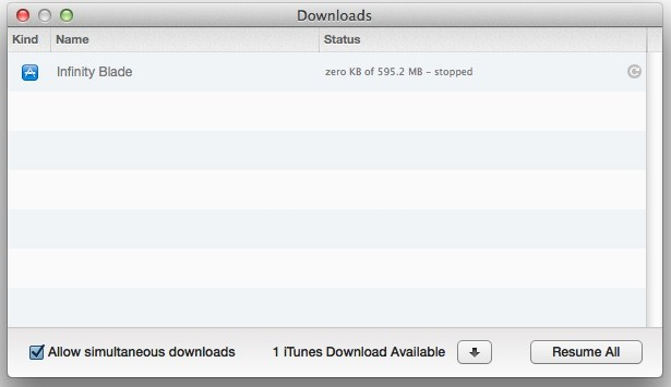 Stop a download in iTunes
