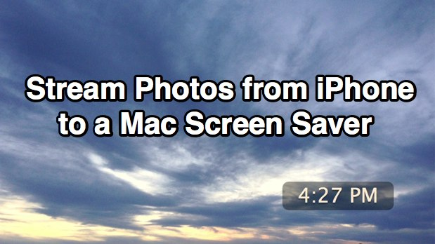 Stream photos from iPhone to a Mac screen saver automatically