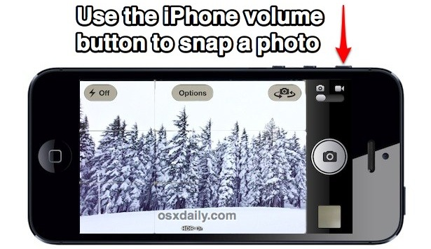 Take a photo with the iPhone volume button
