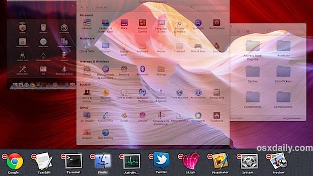 Taskboard multi-task bar in Mac OS X