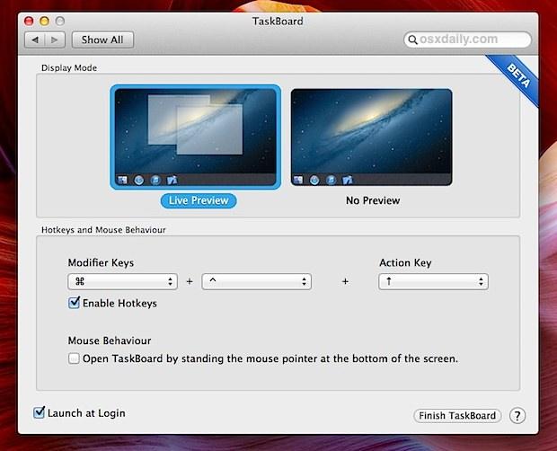 taskboard for OS X