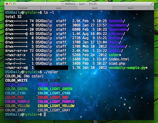 Terminal window with background image in Mac OS X
