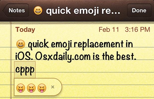 Type Emoji faster in iOS