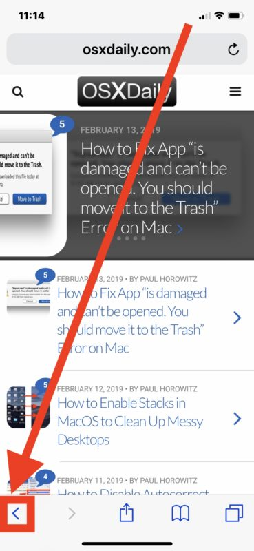 View Safari browsing history in iOS