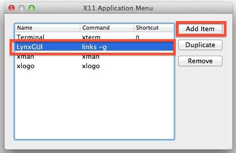 X11 Lynx shortcut