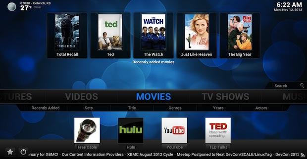 XBMC can run on Apple TV 2