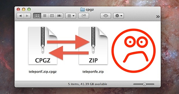 Zip to CPGZ loop
