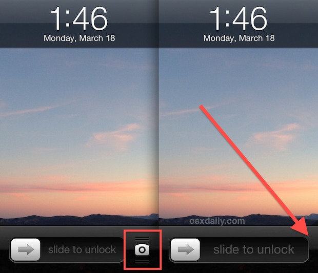 Disable the Lock Screen Camera on iPhone