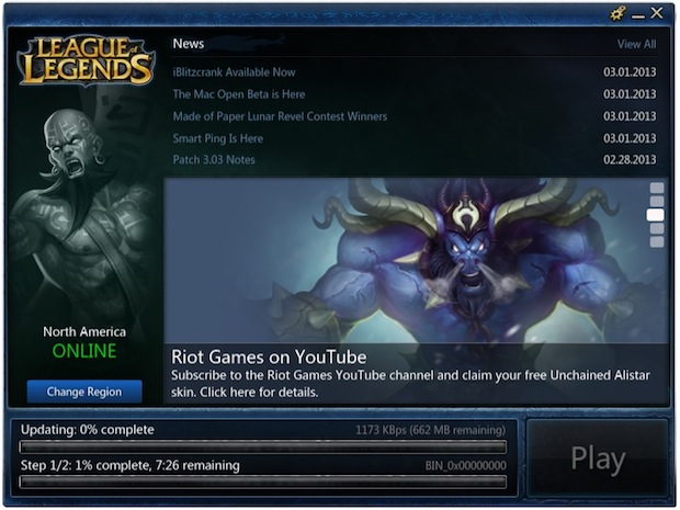 Downloading League of Legends for Mac