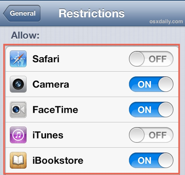 Hide Safari and default apps in iOS