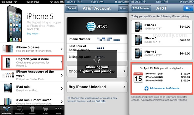 Check iphone upgrade eligibility and get a reminder