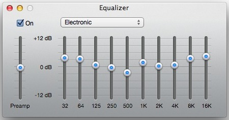 equalizer settings in iTunes