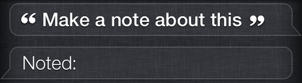 Make a note with Siri