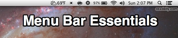 Menu Bar Essentials