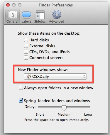 Open Finder windows to the Home folder