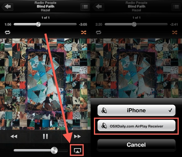 Send Music to an AirPlay Receiver in iOS