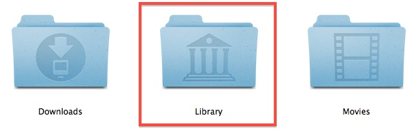 Show the Library folder always