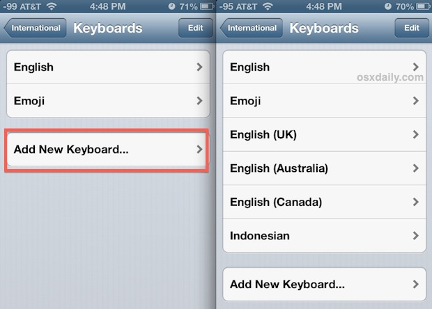 Add International Keyboards to bring more TLD's to iOS keyboard