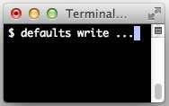 defaults write
