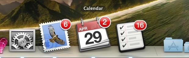Dock badge alert icons in Mac OS X